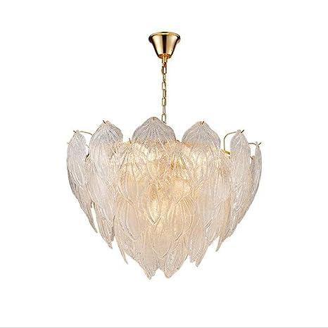 Lámpara LED, Nordic minimalista moderno cristal hoja shell ...
