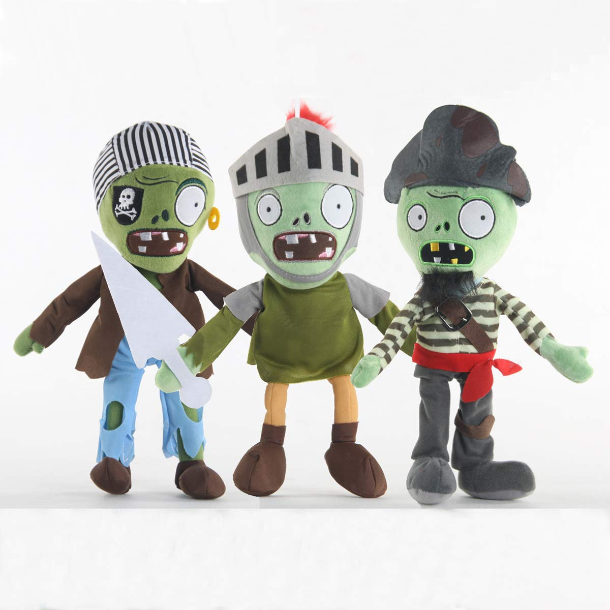 TavasHome 3 Pieces of Plants vs Zombies Plush Toy PVZ Stuffed Soft Game Doll Funny Gift by TavasHome