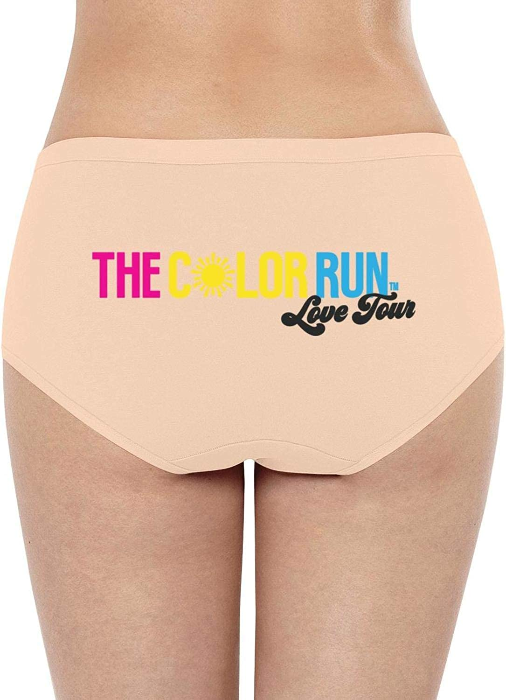 The Color Run Rainbow logoWomensBikini PantySuper Soft Cotton Stretch Quick DryLow WaistBrief Panties