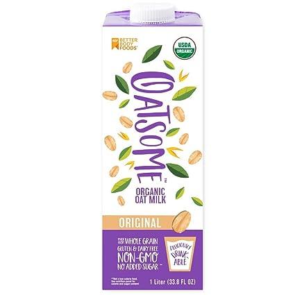 Oatsome leche de avena orgánica, 6 unidades: Amazon.com ...
