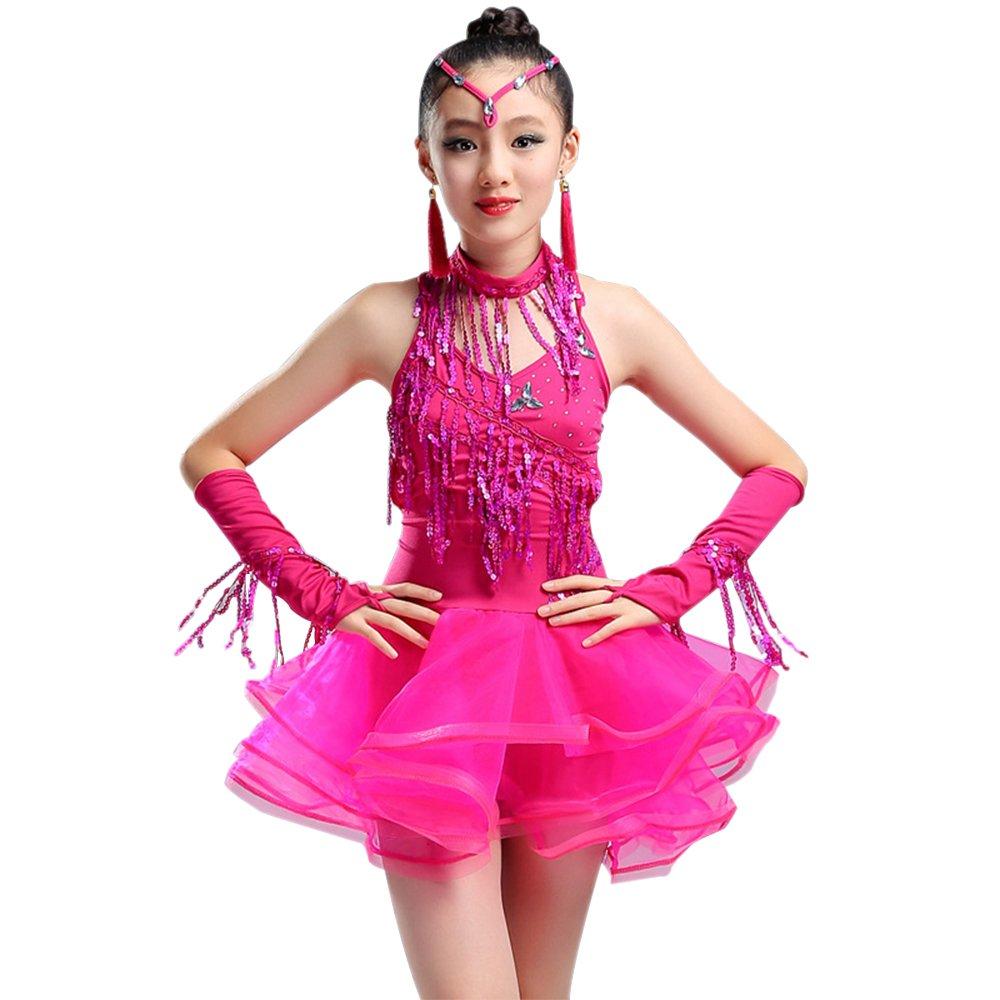 ZEVONDA Costume da ballo Bambina Bambino Latino Maniche Abito