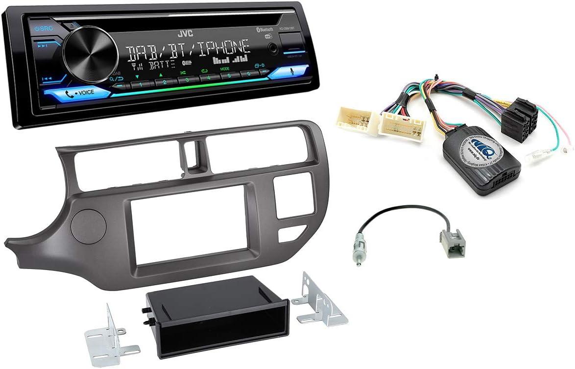 Autoradio Einbauset Geeignet Für Kia Rio Inkl Jvc Kd Db912bt