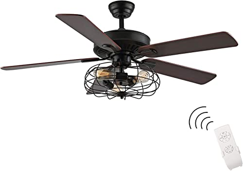 WINGBO 52Inch Retro Ceiling Fan