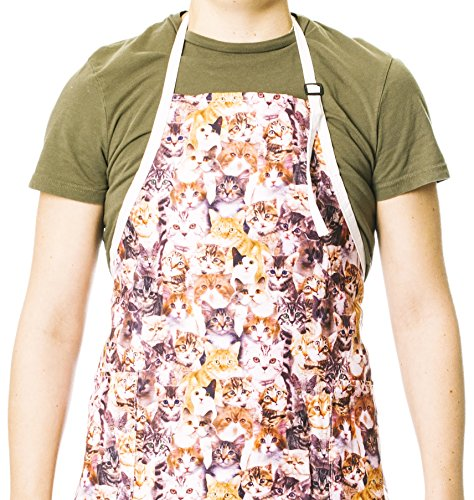 Funny Guy Mugs Kittens Adjustable Apron with Pockets - Funny Apron for Men and Women - Perfect for Kitchen BBQ Grilling Barbecue Cooking Baking Crafting (Everything Apron)