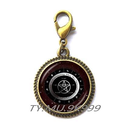 Amazon Com Yao0dianxku Pentacle Zipper Pull Wicca Protection Amulet