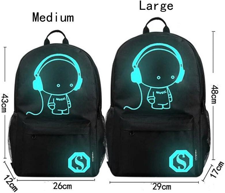 YOMXL Unisex Luminous Backpack Noctilucent Travel Daypack Light Preppy Teenagers Laptop Bag School Bags Classic Canvas BackpackYOMXL