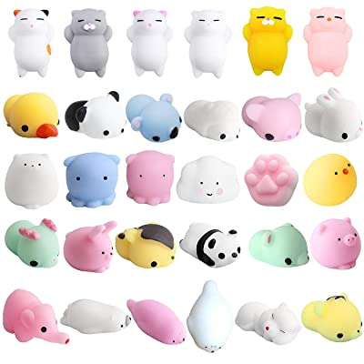 Joyerteng Kawaii Squishies Cat Squishy Panda Mochi Seal Charm Tiger Squishy Fidget Squeezn Random Squishies-10pcs Random: Home & Kitchen