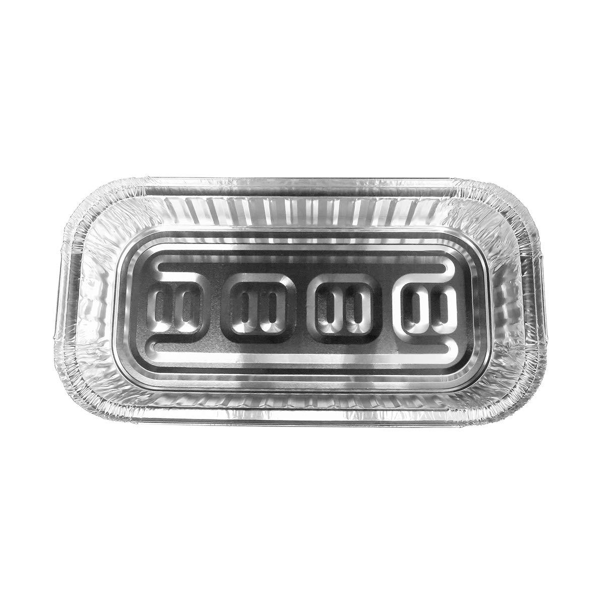 使い捨てアルミ3 lb。Oblong Pan withボード蓋# 110l 3ポンド シルバー A58 250  B00TG9NC06