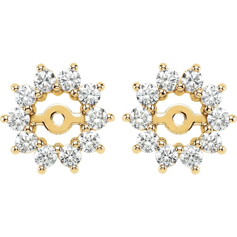 STU001- 14K Yellow 5/8 CTW Diamond Earring Jackets