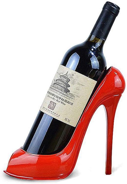 High Heel Red Wine Rack Bottle Holder Kitchen Bar Table Display Table White
