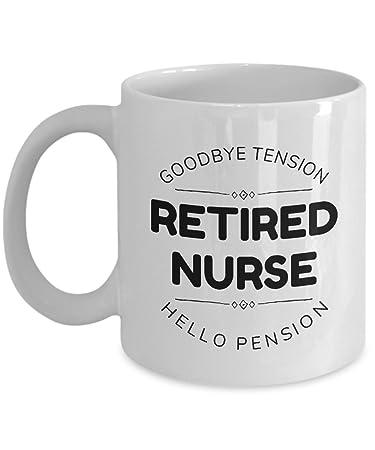 Amazon.com: Lactancia jubilación taza blanca de cerámica de ...