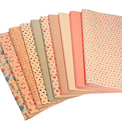 20Sheet BcPowr Ten Styles Kraft Multi Printed Wrapping Paper Set, Premium Gift Wrap, 71 x 50cm Per Sheet. (Patterned Tissue Paper)