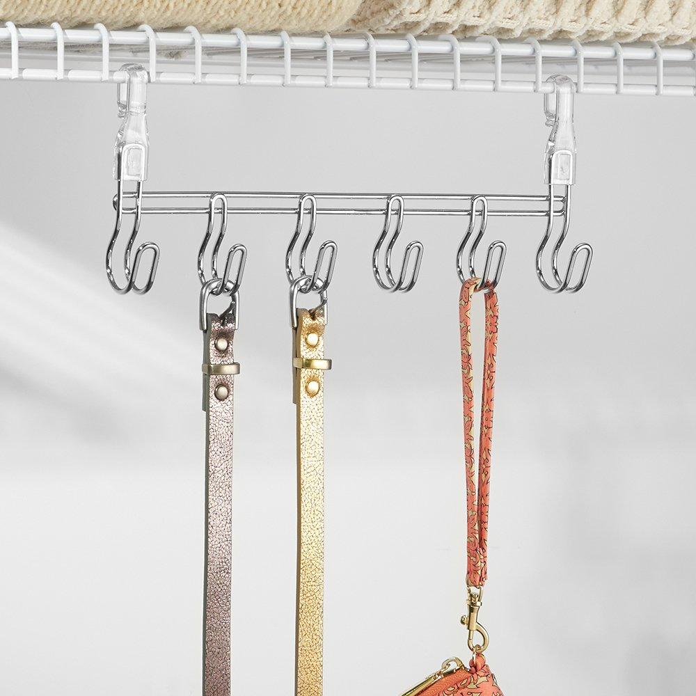 Amazon.com: InterDesign Wire Shelving Organizer, Under Shelf Hooks ...