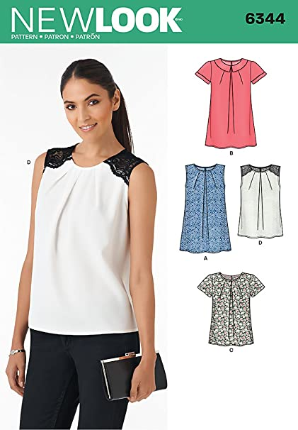 Amazon New Look Patterns UN40A Misses' Tops A 4040404040 New New Look Patterns