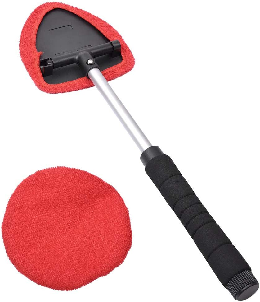 Come with 5 Pads Washer Towel 30ml Spray Bottle and a Mini Duster for Car Air Vent. Windshield Cleaning Tool Auto Glass Cleaner Wiper