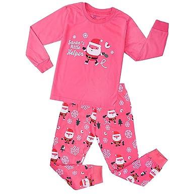 874f221dd7eab Kids Boys Girls Christmas Pyjamas Train Kids PJS Sets 2 Piece Xmas Nightwear  100% Cotton