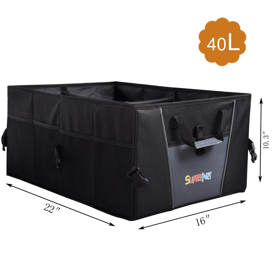 Car Trunk Organizer For SUV Truck Durable Collapsible Cargo Storage Non-Slip Fit any Vehicle