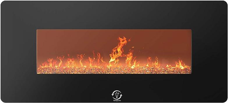 1400W Wall Mounted Electric Fireplace