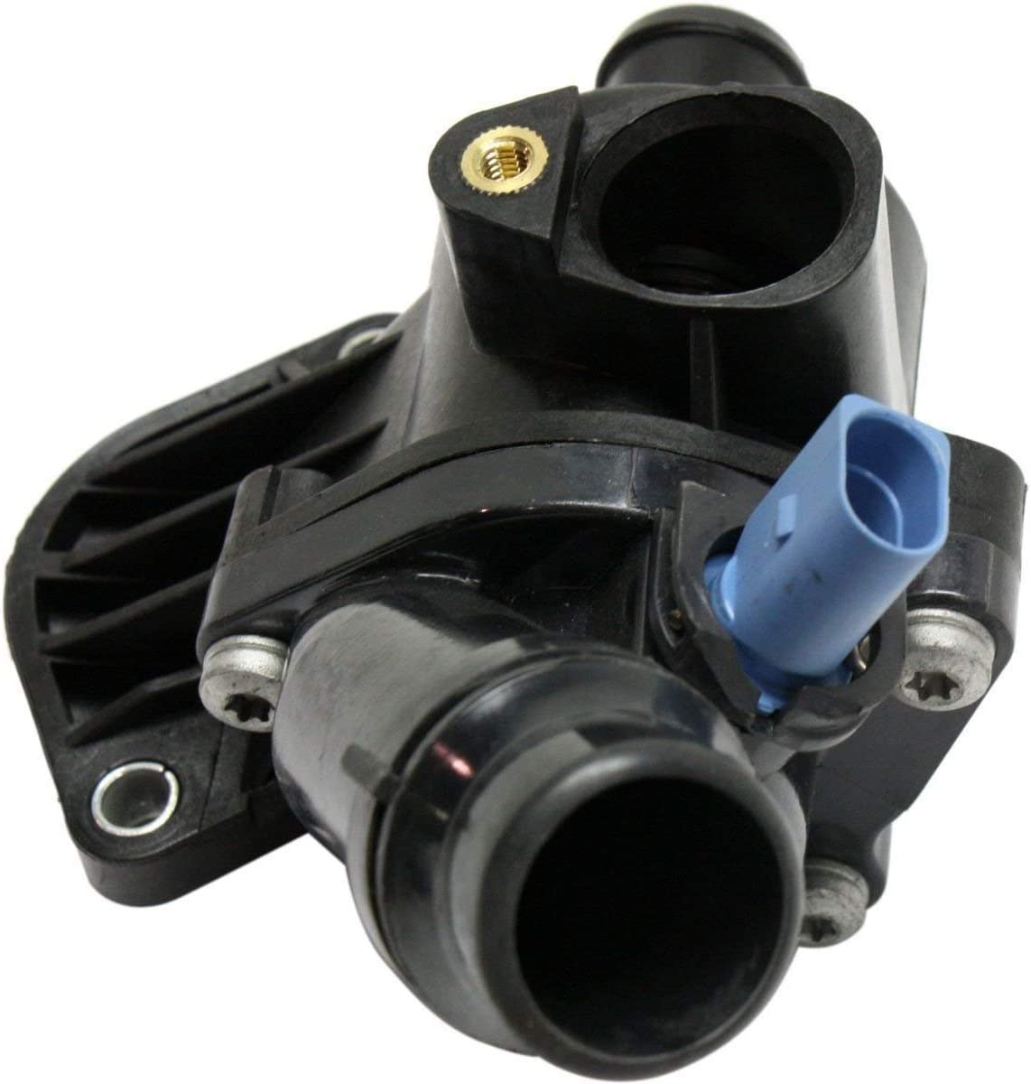 OCPTY Thermostat Housing Assembly Engine Coolant Thermostat Housing Assembly Fit For 2005 2006 2007 2008 Audi A4,2005 2006 2007 2008 Audi A4 Quattro 06D121132C 06D121132A