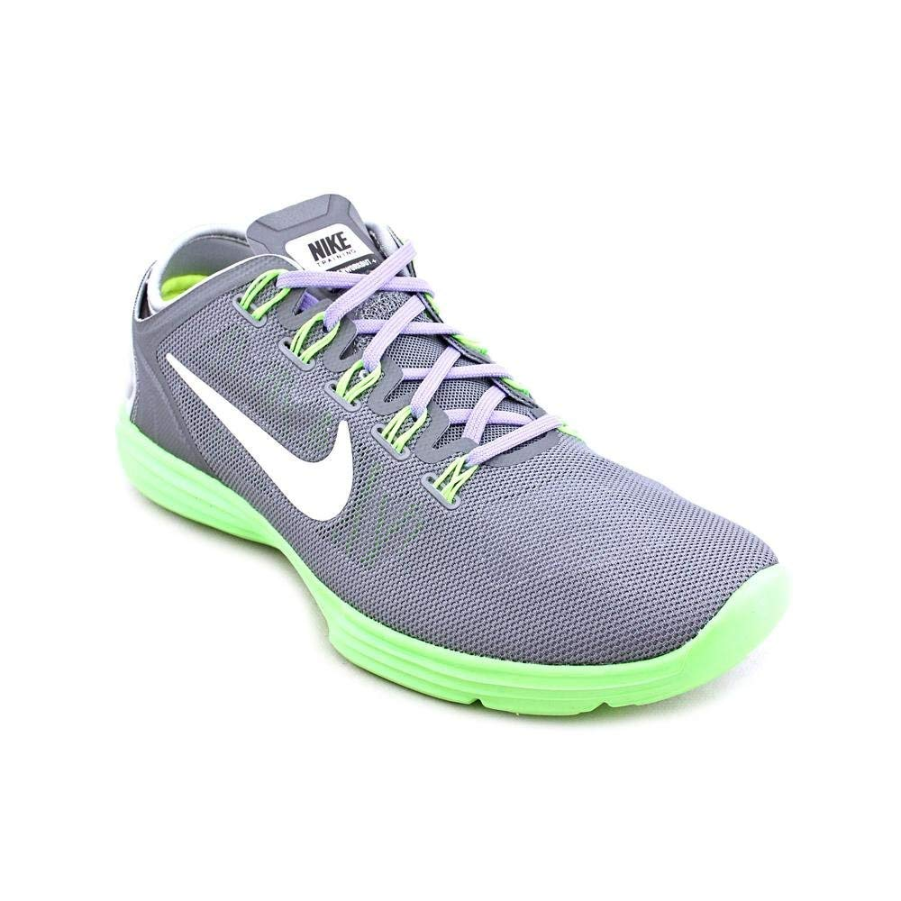 NIKE Womens Lunar Hyperworkout XT 529951 007 Cool Grey White Electric Green