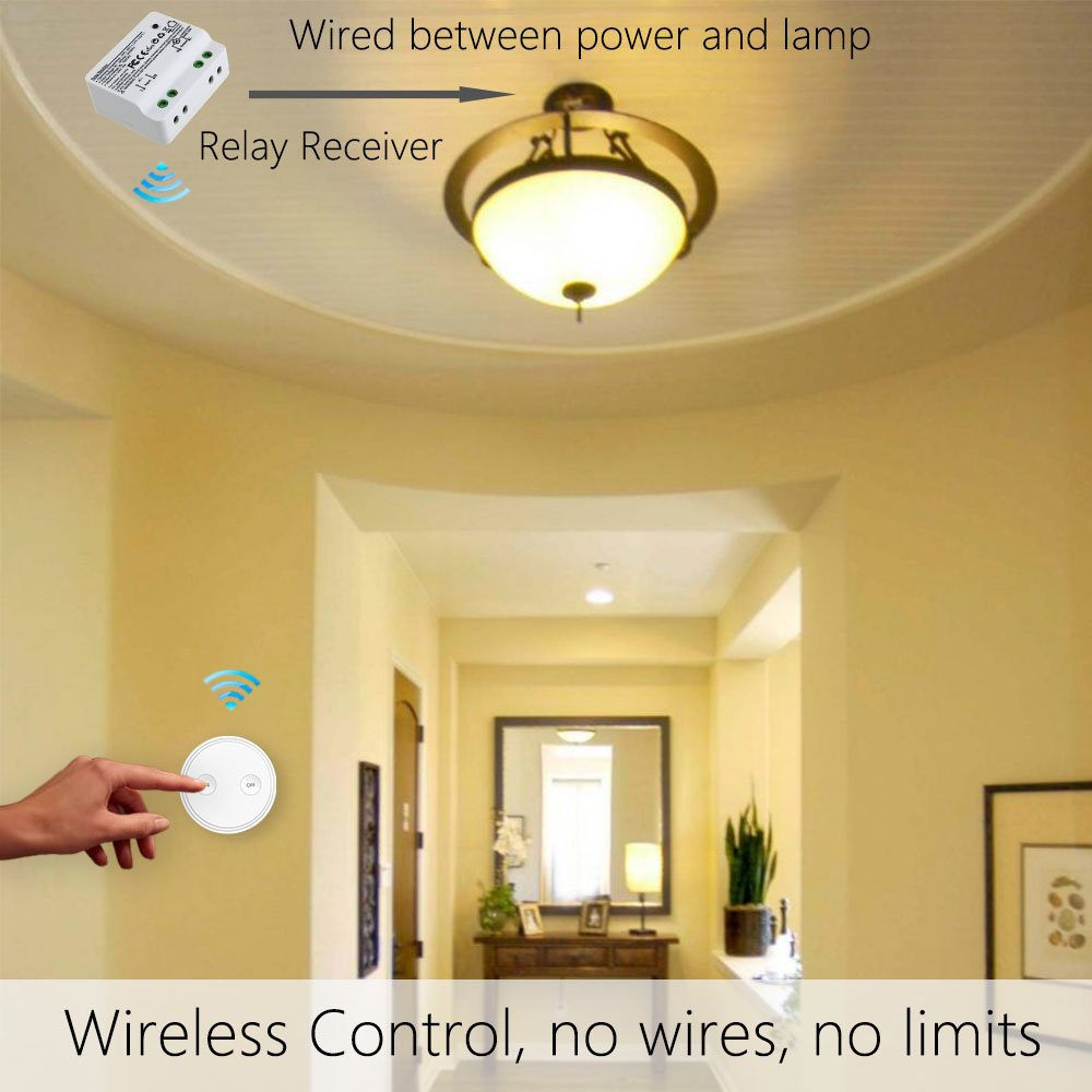 Loratap Wireless Lights Switch Kit 915mhz 656ft Range Remote Ceiling Wiring On Light Diagram Group Picture Image By Control Lamps Fan Household Appliances 5 Years Warranty And Receiver