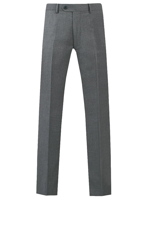 0fa5c1442804b hot sale Dobell Hombre Pantalones De Trajes Gris A Rayas A Medida Gris 32