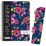 """HARDCOVER Academic Year Planner 2018-2019 - 5.5""""x8"""" Daily Planner/Weekly Planner/Monthly Planner/Yearly Agenda. Bonus BOOKMARK (Bloom)"""