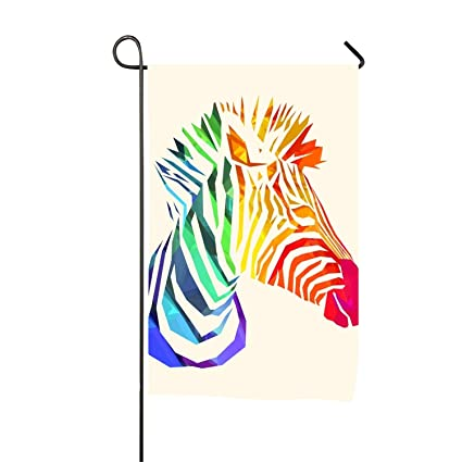 Amazon com : Mr Zebra Colorful Fade Resistant Sports Flags