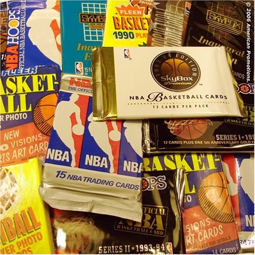 NBA Basketball Trading Cards. Collection of NBA Basketball Card Set of 30 unopened assorted packs from different years and brands. Includes AUTOGRAPHED SIGNED booklet of Sports Card - Packages Autographed