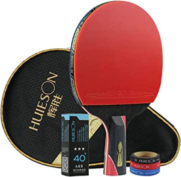 XGGYO Formación Palas Tenis Mesa, Carbono Pala de Ping Pong, para ...