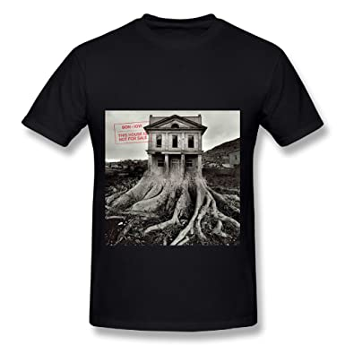 Amazon.com: Best Black T Shirt For Men Bon Jovi Album This House ...
