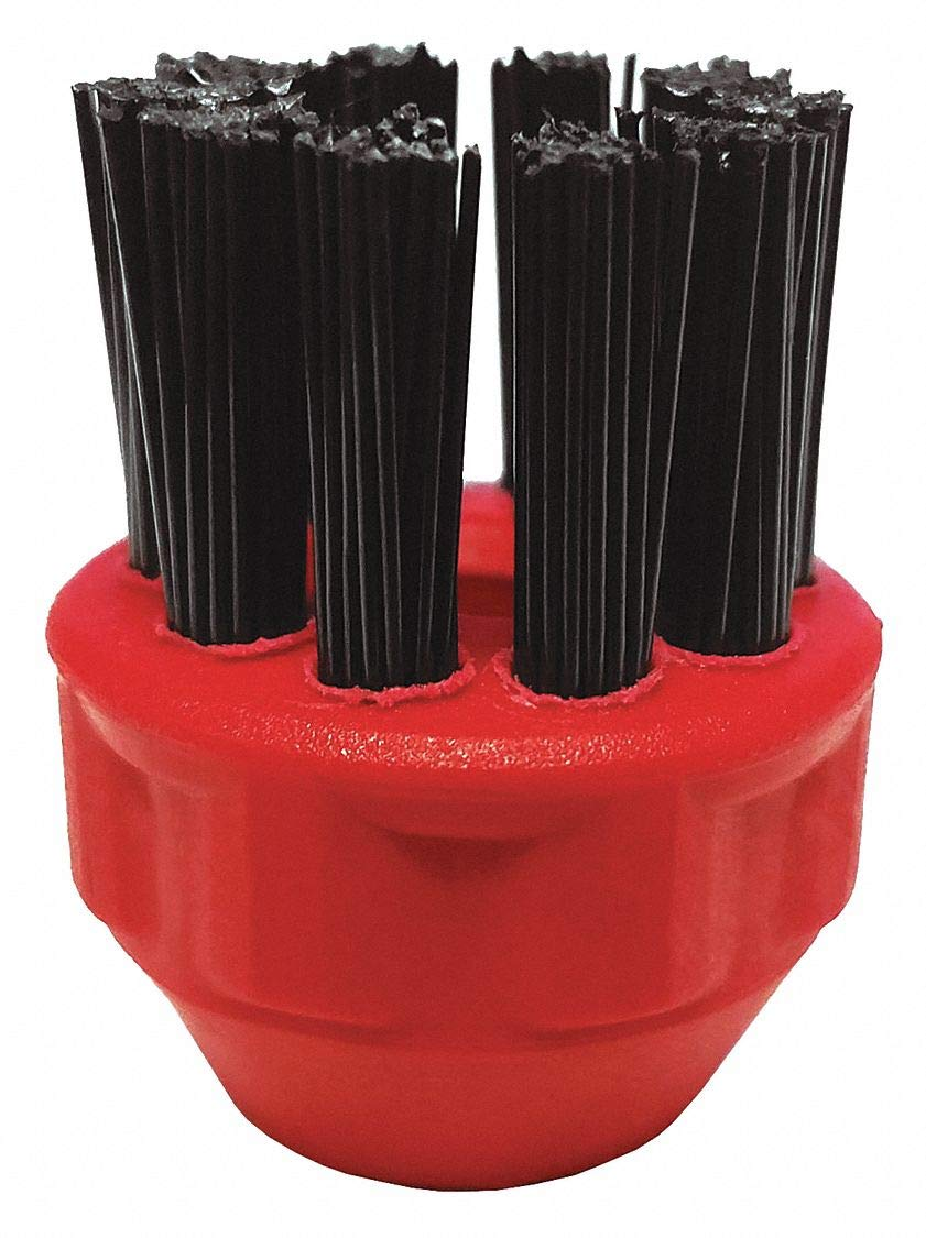 Red Circular Nylon Brush, For Use With Mfr. No. APX390, APX500, APX750, 3 PK