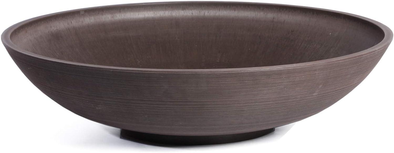 Veradek Lane Round Bowl Planter, 8-Inch Height by 32-Inch Diameter, Espresso (LBV32E)