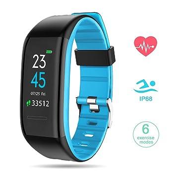 ... Inteligente con Pulsómetro Reloj Inteligente Fitness Tracker Impermeable IP68 Pulsera para Deporte Reloj Inteligente para Mujer Hombre: Amazon.es: ...