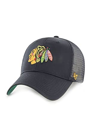 47 Brand Chicago Blackhawks Branson NHL Trucker Cap  Amazon.co.uk ... 236bf49c12f