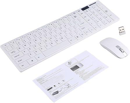 Teclado Inalámbrico Óptico 2.4G Ratón Inalámbrico Óptico Y USB Receptor De Ratón Kit Combinado Para PC TECLADO INTERNACIONAL LETRAS INGLÉS (Color : ...