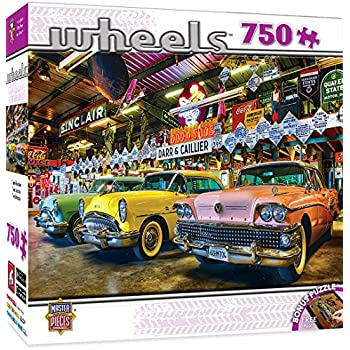 masterpieces wheels collection three beauties jigsaw puzzle 750 piece toys games. Black Bedroom Furniture Sets. Home Design Ideas