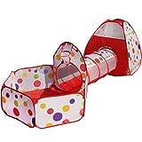 Truedays Pop Up di Tenda e Tunnel da Gioco Bambini Tenda Giocattolo Tunnel Bambino Ball Pool per Bambini e Bambine Incl. borsa per il trasporto 3 in 1