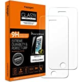 Spigen® **2-Pack** Protection écran iPhone SE / 5S / 5C / 5, en Verre Trempé, **Easy-Install Kit** [Extreme Résistant aux rayures] *Ultra Clair* protection verre trempé iPhone SE / 5S / 5C / 5 (SGP10111)