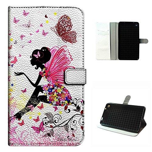 Girls Maya Bike - Studio 7.0 II case, SoloShow(R) BLU Studio 7.0 II S480U/S480L 7.0 inch case High Quality PU Leather Wallet Flip case, Angel girl butterfly wings pattern (Flower Fairy)