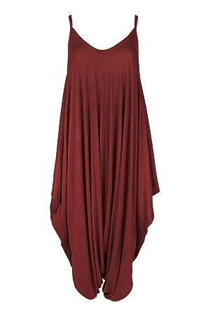Ladies Women Lagenlook Romper Cami Baggy Harem Jumpsuit Playsuit Plus Size 8-26