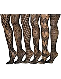 Fishnet Women's Lace Stockings Tights Sexy Pantyhose...