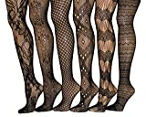 Frenchic Seamless Sexy Fishnet Lace Stocking Tights Extended Sizes (Pack of 6) (1X/2X, 1010)