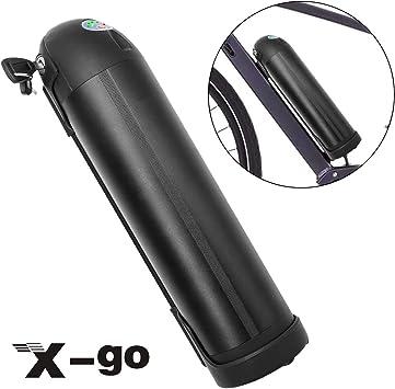 X-go 36V 10A Batería Botella Negra para la Bicicleta Eléctrica: Amazon.es: Bricolaje y herramientas