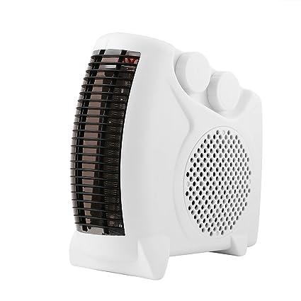 Mini Calentador Eléctrico Cuarto de Baño Ventilador de Aire Caliente Ventilador Hogar Calentador Termostato Ajustable 800