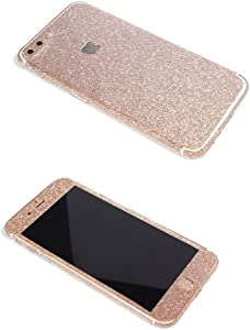 iPhone 7 Plus Bling Skin Sticker, Supstar Full Body Coverage Glitter Vinyl Decal - Dustproof, Anti-Scratch for Apple iPhone 7 Plus (Champagne Gold)