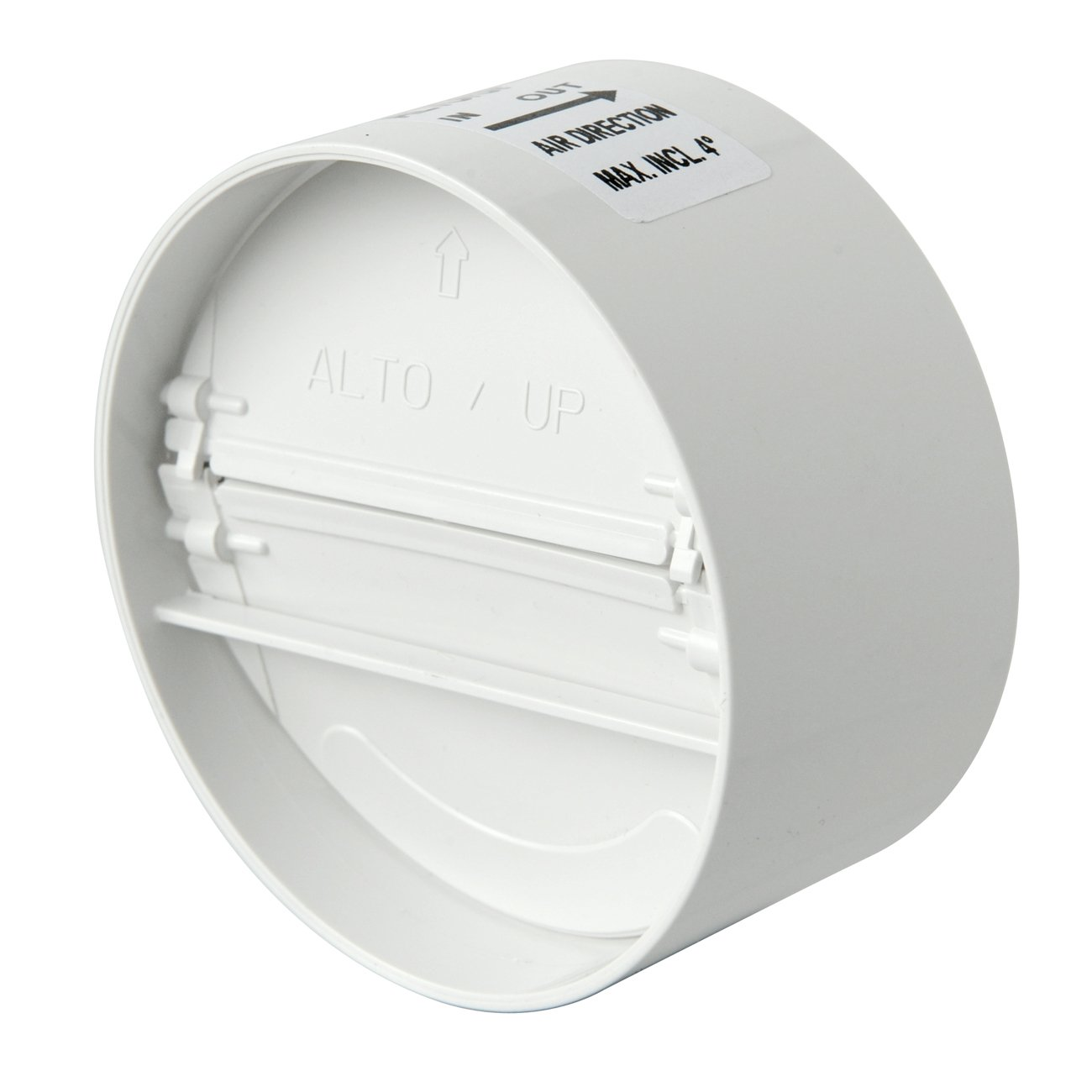 The Ventilation vlg100b-y vlg100b Butterfly of No Return Air In ABS with compensatory Gasket, Valve for Pipe Diameter 100 - 110 mm White - - Amazon.com