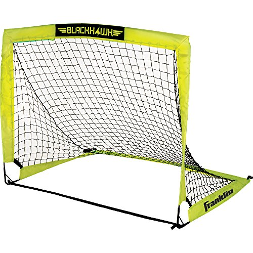 - Franklin Sports Blackhawk Portable Soccer Goal - Pop-Up Soccer Goal and Net - Indoor or Outdoor Soccer Goal - Goal Folds For Storage - 4'x3' Soccer Goal