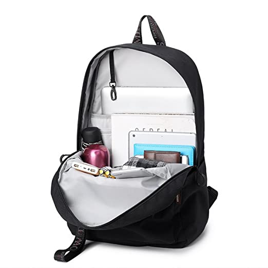 a35e571e7f Amazon.com  Acmebon Waterproof School Backpack for Teen Travel Laptop  Backpack with USB Charging Port Black  AcmebonDirect