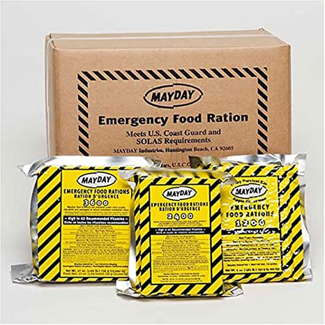 Mayday 400 Calorie Survival Food Bar emergency rations catastrophe pack de 12